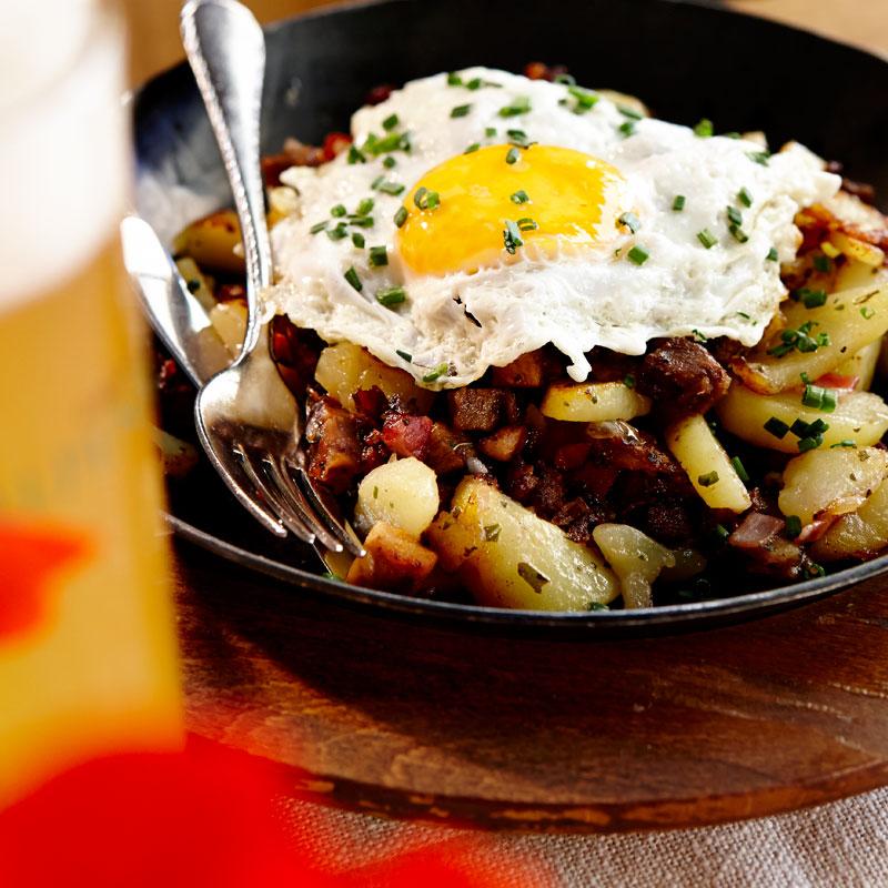 Typische Tiroler Mahlzeit