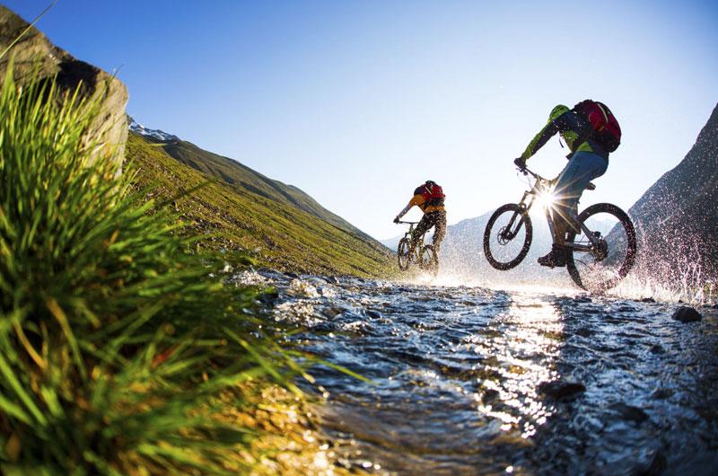 Biking trails in the Ötztal