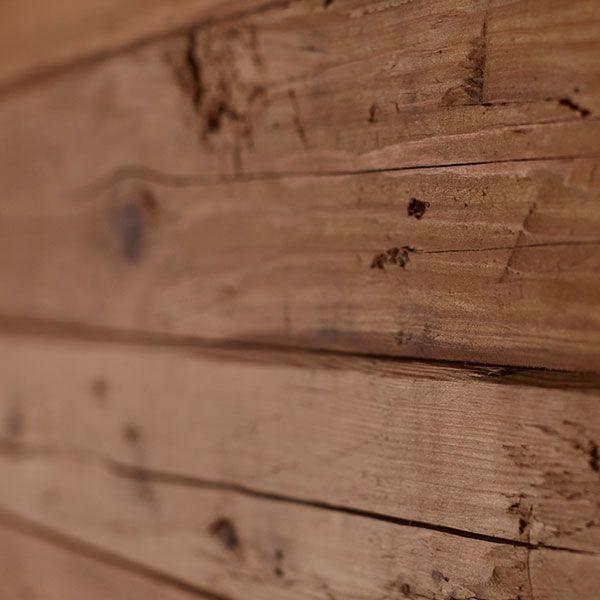 Fichtenholz in der Sauna