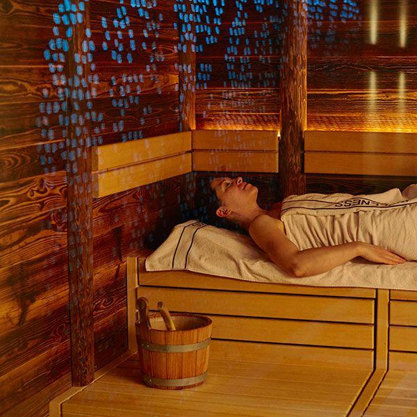 Sauna mit Lichteffekt