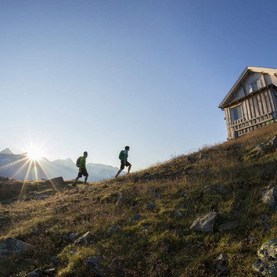 Alpine pastures and cabins