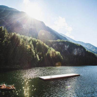 Der glitzernde Piburger See