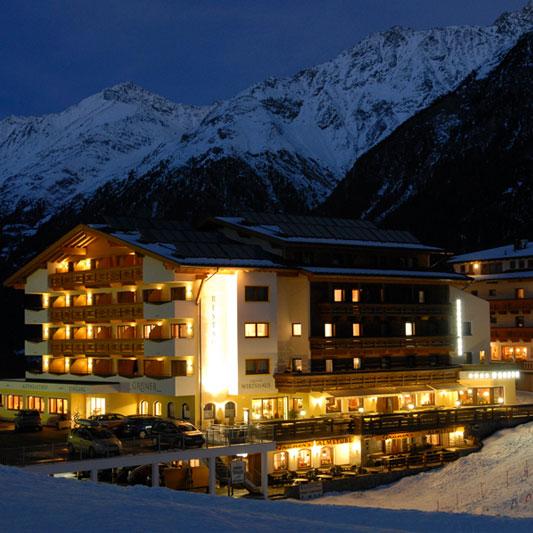 Der Alpengasthof im Winter