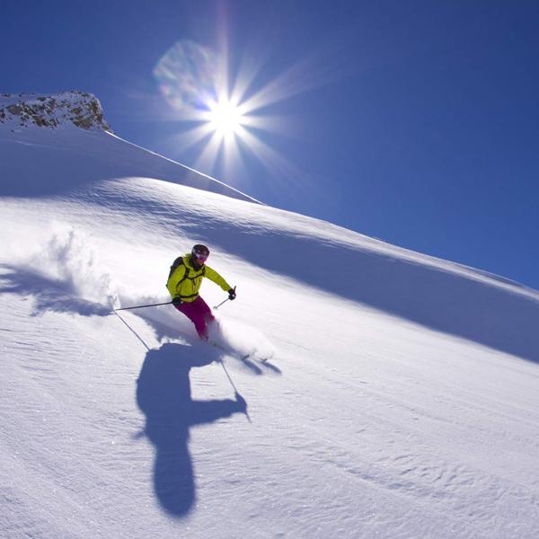 Skifahrer Sölden