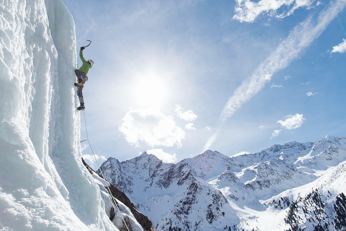 Klettergurt Eisklettern : Alpengasthof grüner eisklettern im Ötztal